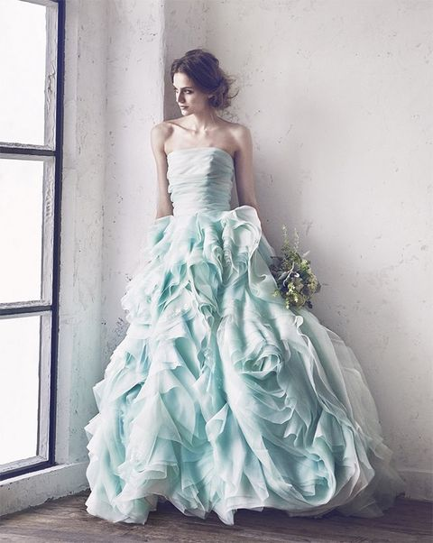 Gown, Clothing, Dress, Wedding dress, Fashion model, Bridal party dress, Shoulder, Photograph, Bridal clothing, Waist,