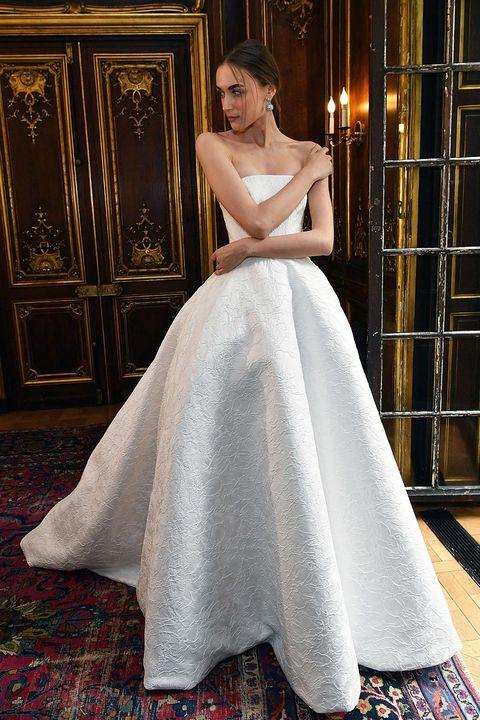 Sleeve, Shoulder, Dress, Textile, Bridal clothing, Gown, Door, Formal wear, Wedding dress, Fashion,