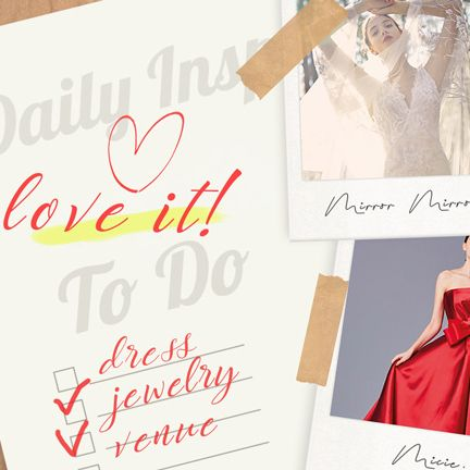 Dress, Clothing, Red, Pink, Gown, Font, Formal wear, Magenta, Wedding dress, Invitation,