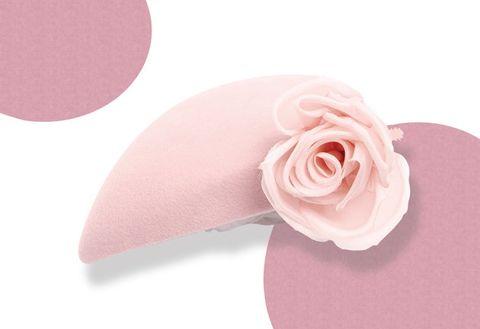 Pink, Petal, Rose, Footwear, Headgear, Flower, Plant, Rose family, Beige,