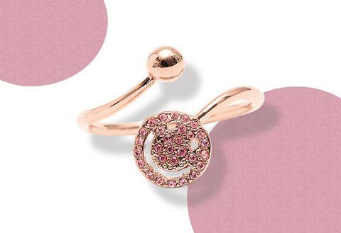 Pink, Fashion accessory, Jewellery, Body jewelry, Ear, Earrings, Diamond, Gemstone, Finger, Silver,