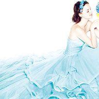 Human, Gown, Aqua, Long hair, Embellishment, One-piece garment, Day dress, Headpiece, Costume, Wedding dress,