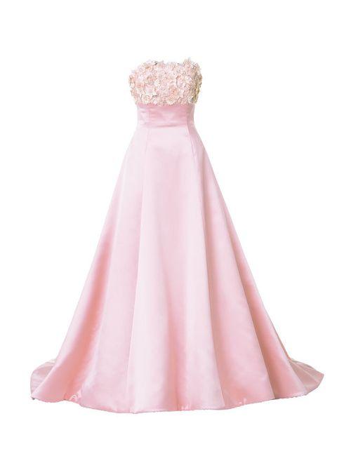 Brown, Dress, Peach, White, Pink, Formal wear, One-piece garment, Gown, Day dress, Magenta,