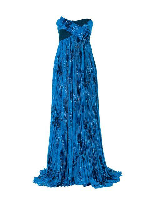 Blue, Dress, Formal wear, One-piece garment, Electric blue, Azure, Day dress, Aqua, Cobalt blue, Teal,