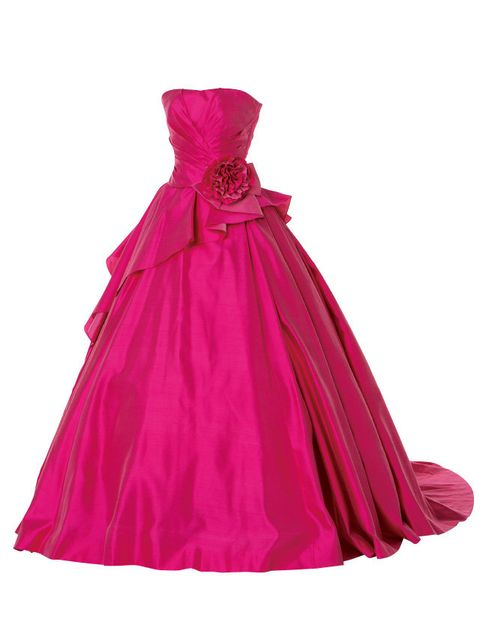 Magenta, Textile, Dress, Pink, Purple, Violet, One-piece garment, Day dress, Maroon, Costume accessory,