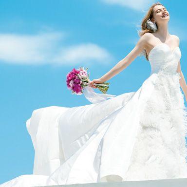 Wedding dress, Gown, Dress, Bride, Bridal clothing, Clothing, Photograph, Bridal party dress, Beauty, Shoulder,