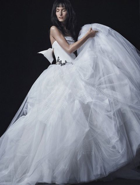 Clothing, Bridal clothing, Hairstyle, Sleeve, Shoulder, Textile, Photograph, Joint, Dress, Gown,