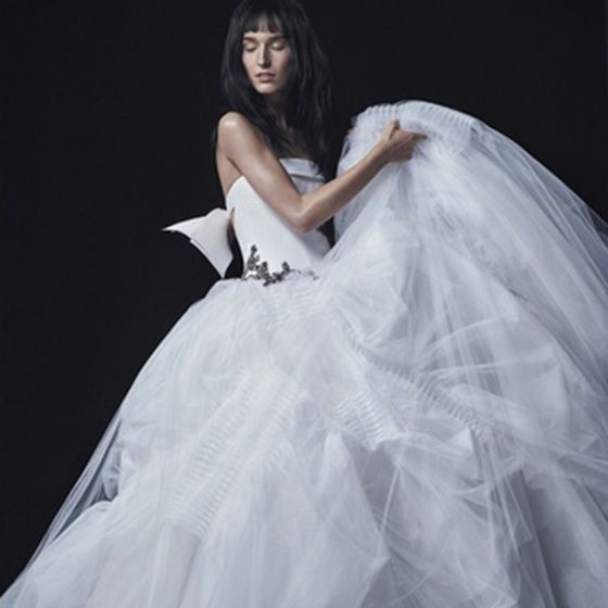 Bridal clothing, Hairstyle, Sleeve, Shoulder, Textile, Photograph, Joint, Gown, Bridal veil, Wedding dress,