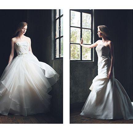 Gown, Dress, Wedding dress, Clothing, Photograph, Shoulder, Bridal clothing, Fashion model, A-line, Bridal party dress,