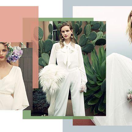 Clothing, Dress, White, Gown, Shoulder, Wedding dress, Fashion, Neck, Sleeve, Fashion model,