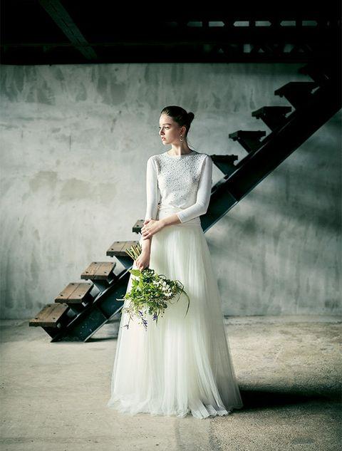 Gown, Dress, Wedding dress, Bride, Photograph, Clothing, White, Bridal clothing, Fashion model, Beauty,