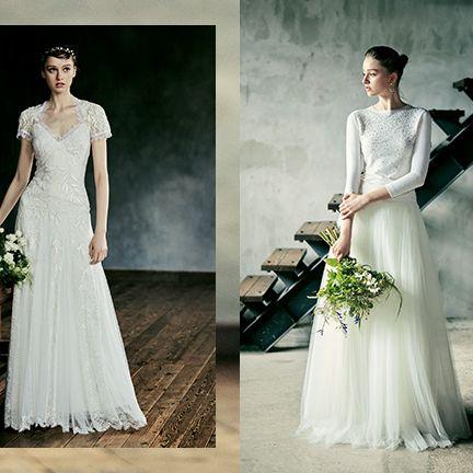 Clothing, Dress, Sleeve, Shoulder, Textile, Photograph, Gown, Bridal clothing, Petal, Wedding dress,