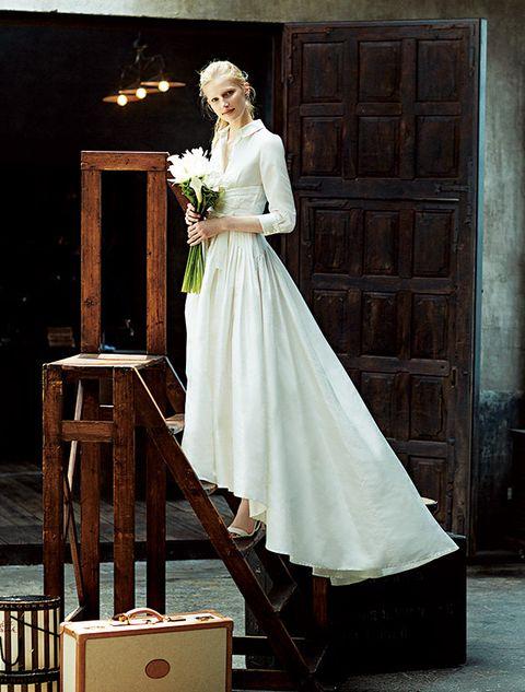 Gown, Clothing, White, Dress, Wedding dress, Bridal clothing, Fashion, Formal wear, Bride, Bridal accessory,