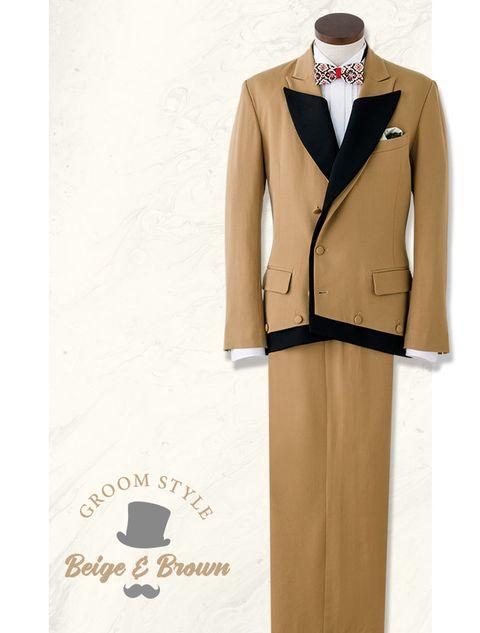 Clothing, Suit, Formal wear, Beige, Tuxedo, Outerwear, Uniform, Coat, Blazer, Jacket,