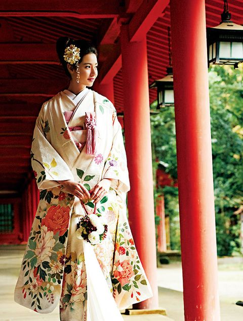 Kimono, Clothing, Costume, Kannushi, Temple, Tradition, Robe,