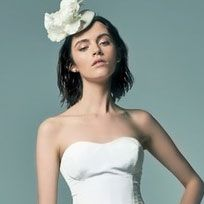 Clothing, Hairstyle, Strapless dress, Shoulder, Photograph, Joint, Petal, Dress, Style, Beauty,