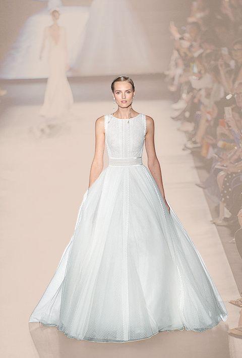 Gown, Fashion model, Wedding dress, Clothing, Dress, Shoulder, Bridal clothing, Bridal party dress, Photograph, Fashion,