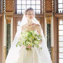 Gown, Wedding dress, Bride, Dress, Photograph, Bridal clothing, White, Clothing, Bridal party dress, Shoulder,