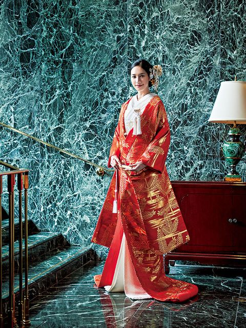 Lamp, Formal wear, Lampshade, Gown, Stairs, Kimono, Silk, Fashion design, Vintage clothing, Home accessories,