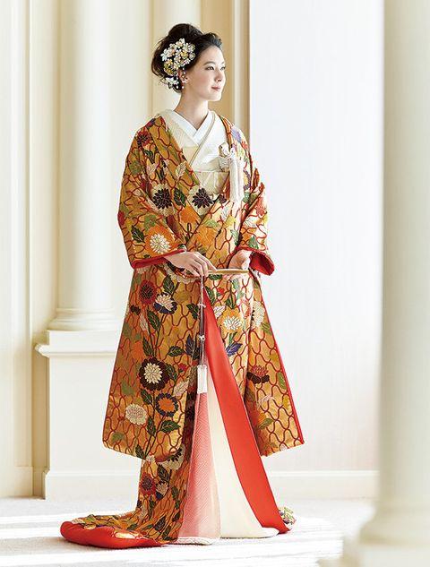 Clothing, Costume, Kimono, Fashion, Dress, Tradition, Textile, Sari, Sleeve, Formal wear,