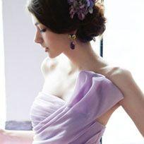Hair, Shoulder, Hairstyle, Skin, Dress, Joint, Arm, Chignon, Neck, Black hair,