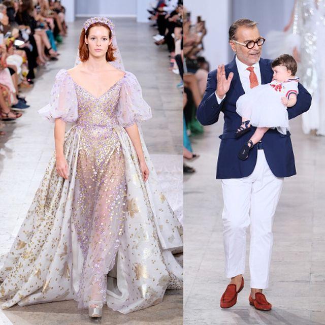 Fashion model, Fashion, Clothing, White, Haute couture, Dress, Street fashion, Pink, Shoulder, Wedding dress,