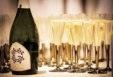 Drink, Champagne stemware, Alcoholic beverage, Stemware, Champagne, Wine glass, Glass bottle, Wine, Glass, Alcohol,