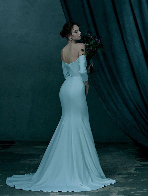 Gown, Dress, Wedding dress, Clothing, Shoulder, Bridal party dress, Photograph, Bridal clothing, Bride, Bridal accessory,