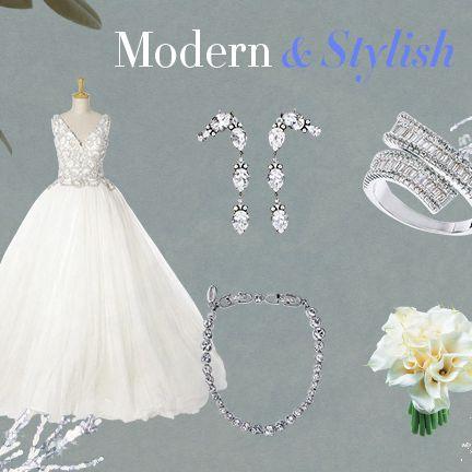 Wedding dress, Dress, Gown, Clothing, Bridal clothing, Bridal party dress, Bride, Bridal accessory, Formal wear, Headpiece,