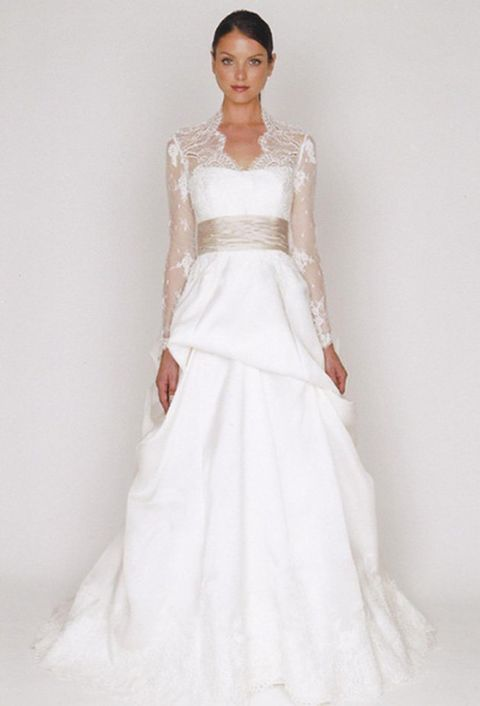 Clothing, Dress, Sleeve, Shoulder, Bridal clothing, Textile, Photograph, Joint, White, Standing,