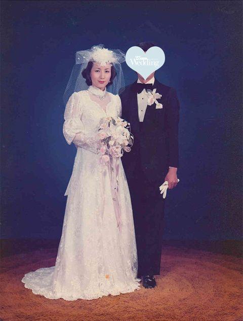 Photograph, Wedding dress, Bride, Dress, Gown, Bridal clothing, Fashion, Formal wear, Bridal accessory, Veil,