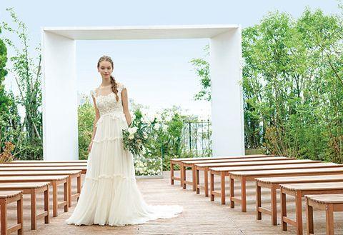 Dress, Photograph, Wedding dress, Gown, Bride, Clothing, Bridal clothing, Bridal party dress, Shoulder, Ceremony,