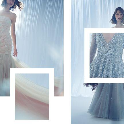 Clothing, Dress, Gown, Shoulder, Fashion model, Bridal party dress, Wedding dress, Fashion, A-line, Neck,