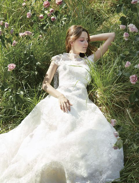Dress, Gown, Wedding dress, Clothing, White, Bridal party dress, Bridal clothing, Bride, A-line, Child,