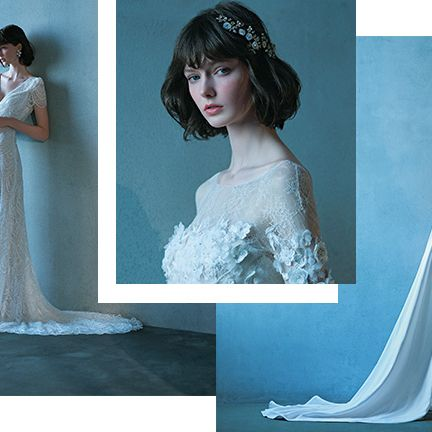 Gown, Wedding dress, Dress, Clothing, Shoulder, Photograph, Bridal accessory, Bridal clothing, Headpiece, Bride,