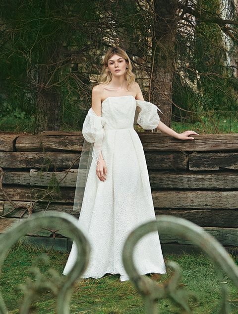 Dress, Wedding dress, Gown, Photograph, Clothing, White, Bridal clothing, Bridal party dress, Beauty, Bride,