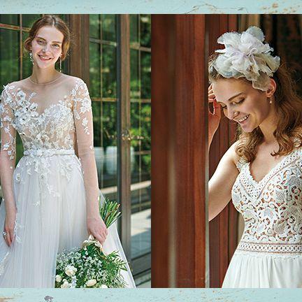 Dress, Wedding dress, Gown, Clothing, Photograph, Bride, Bridal clothing, Shoulder, Bridal party dress, Headpiece,