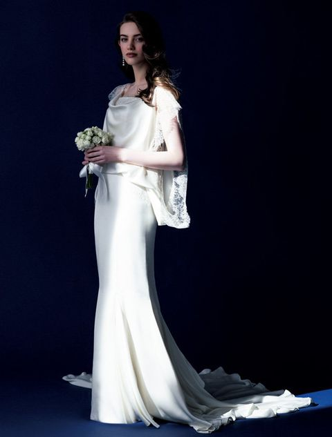 Gown, Dress, Wedding dress, Clothing, Fashion model, Bride, Shoulder, Bridal clothing, Bridal party dress, Formal wear,