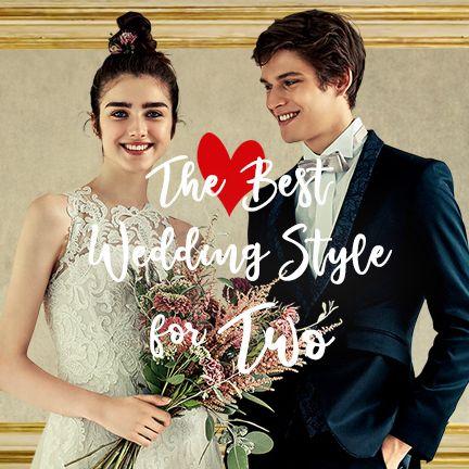 Formal wear, Bride, Facial expression, Gown, Suit, Wedding dress, Dress, Ceremony, Tuxedo, Wedding,
