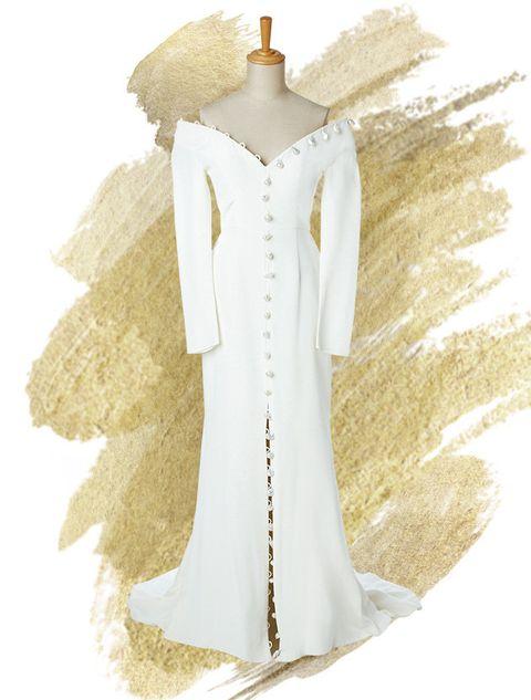 Dress, Costume design, Collar, Fashion, Art, Fashion illustration, Pattern, Mannequin, One-piece garment, Day dress,