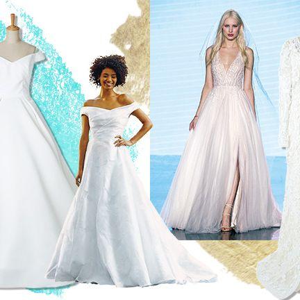 Gown, Clothing, Dress, Wedding dress, Fashion model, Shoulder, Bridal party dress, Bridal clothing, A-line, Bride,