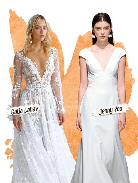 Gown, Clothing, Dress, Shoulder, White, Fashion model, Bridal party dress, Neck, A-line, Wedding dress,