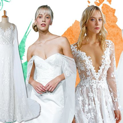 Gown, Wedding dress, Dress, Clothing, Fashion model, Shoulder, Bridal clothing, Bridal party dress, Fashion, Bride,