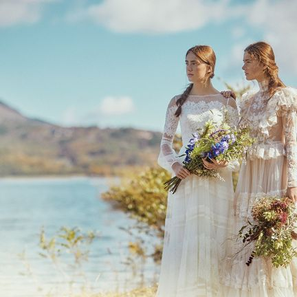 People in nature, Photograph, Bride, Wedding dress, Gown, Dress, Bridal clothing, Sky, Photography, Summer,