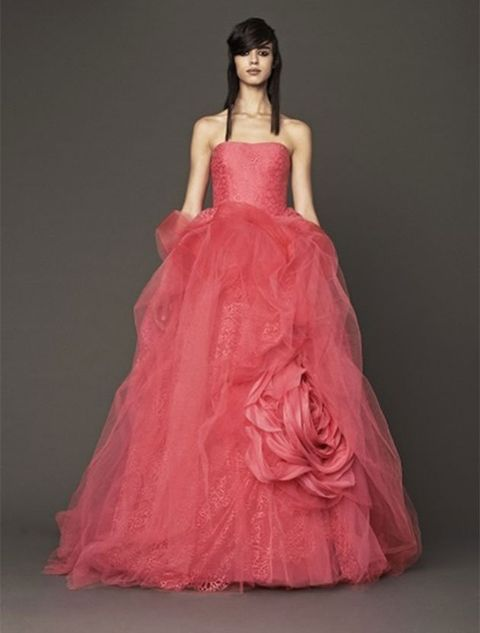 Gown, Clothing, Dress, Fashion model, Pink, Bridal party dress, Strapless dress, Formal wear, Fashion, Haute couture,