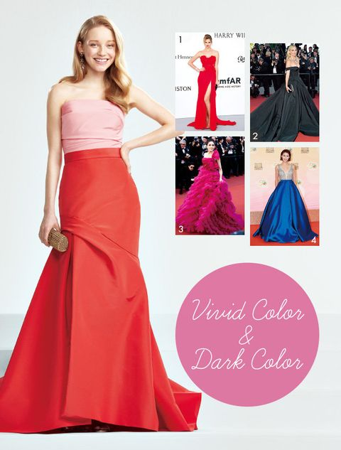 Dress, Gown, Clothing, Shoulder, Fashion model, Pink, Formal wear, Bridal party dress, A-line, Strapless dress,