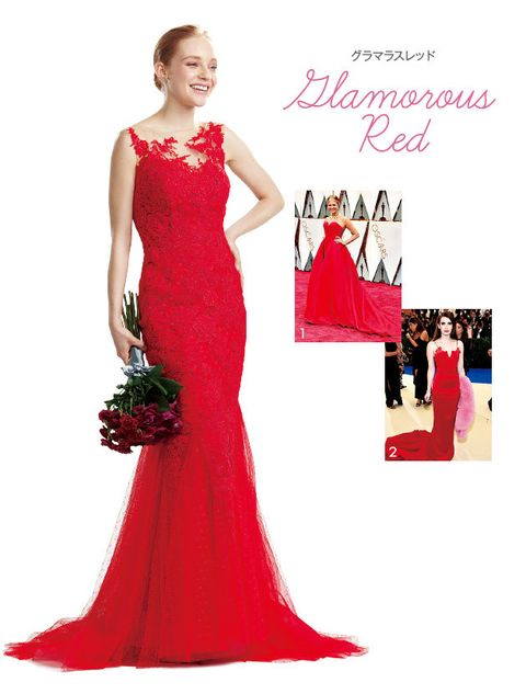 Gown, Dress, Clothing, Fashion model, Shoulder, Bridal party dress, Red, Formal wear, A-line, Haute couture,