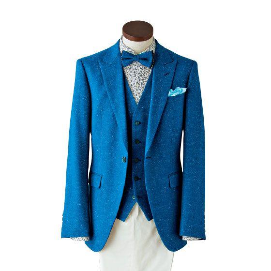 Clothing, Outerwear, Blue, Blazer, Jacket, Suit, Turquoise, Formal wear, Sleeve, Tuxedo,