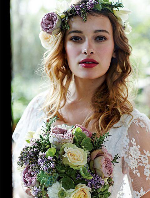 Petal, Eye, Flower, Photograph, Purple, Bouquet, Hair accessory, Beauty, Headpiece, Headgear,