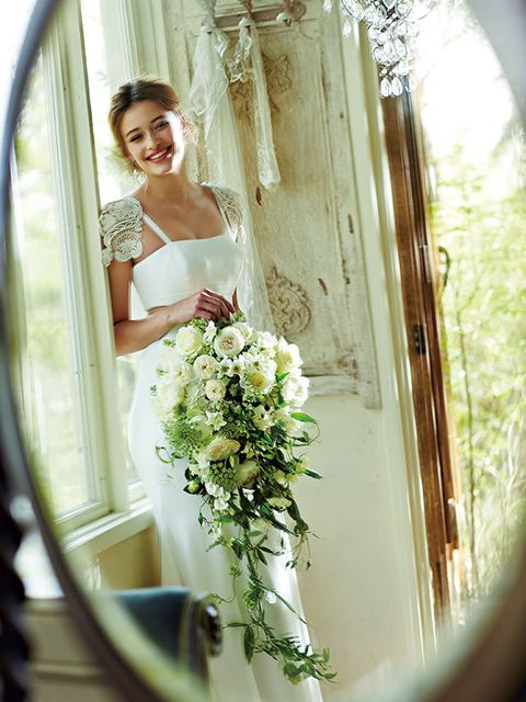 Dress, Petal, Bridal clothing, Bouquet, Photograph, Flower, Happy, Bride, Gown, Cut flowers,